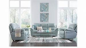 1, 855, 00, -, Vercelli, Aqua, Light, Blue, Leather, 5, Pc, Living, Room, With, Reclining, Sofa