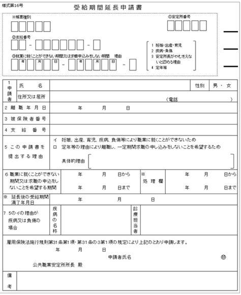 失業 保険 延長