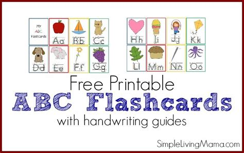 printable abc flashcards for preschoolers simple living 721 | abc flashcardsfeature