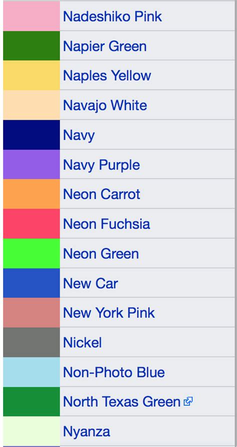 5 letter colors what are colors that start with the letter n quora