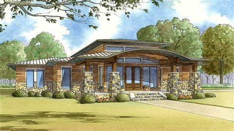 Modern Home Plan With Wrap-around Porch