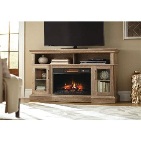 electric fireplace tv stand home depot home decorators collection hawkings point 59 5 in rustic