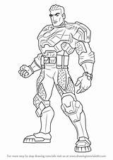 Max Steel Forge Draw Ferrus Commander Drawing Cartoon Step sketch template