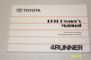 1991 Toyota 4runner Owners Manual