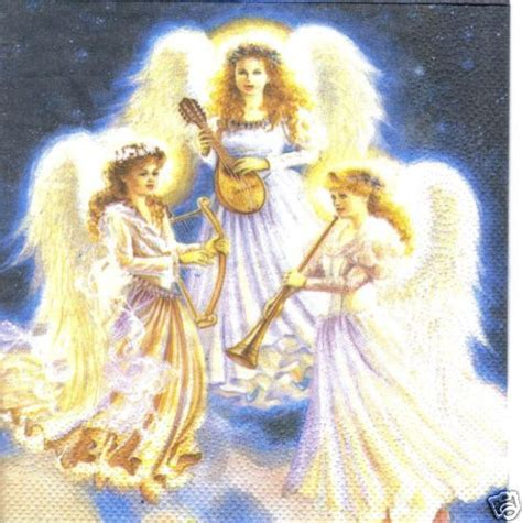 serviette schoene engel serviettenrausch