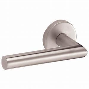 Poignée De Porte Vachette : poign es de porte inox linox droite 493 sur rosaces ~ Premium-room.com Idées de Décoration