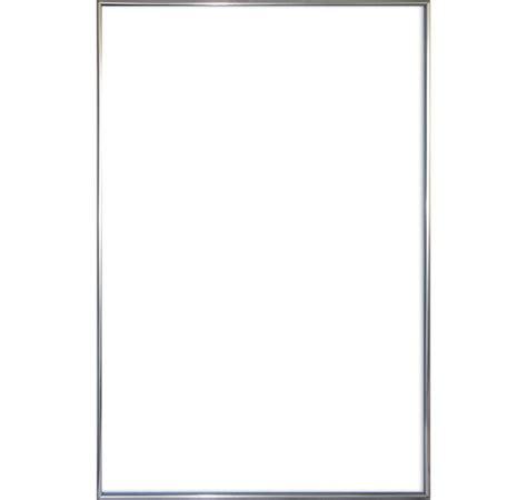 cadre pour poster en plastique argente grand format 61 x