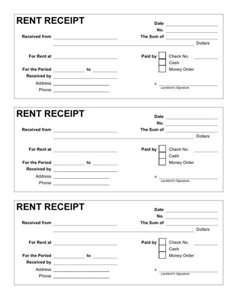 Free Receipt Template Landlord Rent Receipt Template Printable Receipt Template