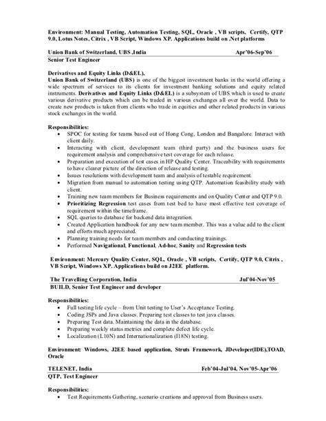 Qa Automation Lead Resume by 9 Yrs Qa Test Lead Fargo