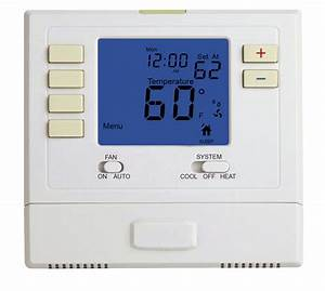 7 Day Wireless Programmable Thermostat   1 Heat 1 Cool