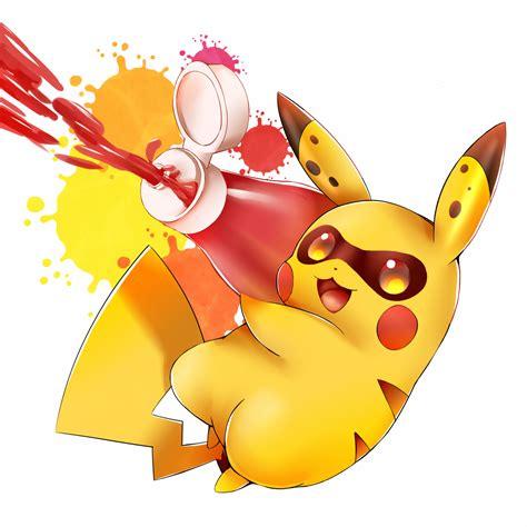 pikachu inkling splatoon   meme