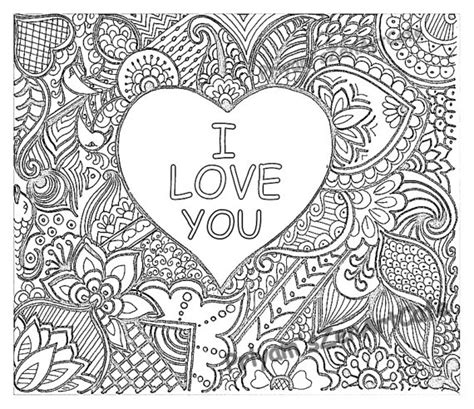Coloring For You by Easy Coloring Page Gift I You