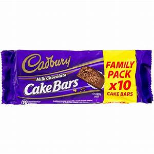 Cadbury Chocolate Cake Bar 10pk | Woolworths