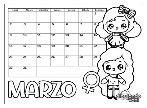 foto de marzo 2020 para imprimir Dibujando con Vani