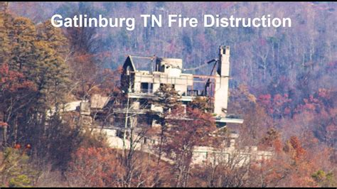 gatlinburg tn fire aftermath youtube