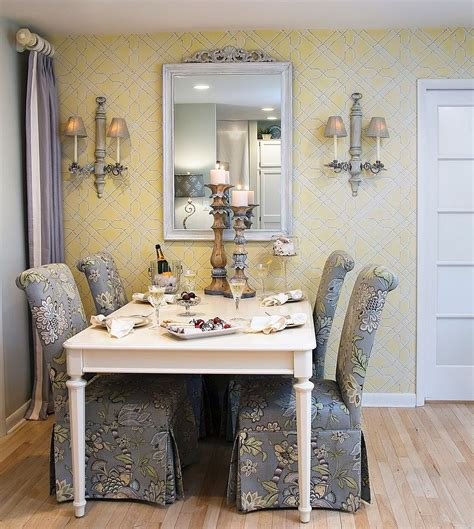 trendy color duo  dining rooms  serve  gray