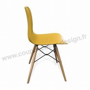 Chaise Scandinave Jaune Moutarde : chaise de cuisine jaune scandinave dimento sur cdc design ~ Teatrodelosmanantiales.com Idées de Décoration