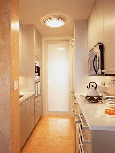 tips  maximize galley kitchen space allstateloghomescom