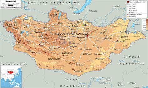 mongolei physik karte