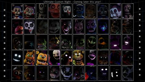 fangames roster ultimate custom night fanmade