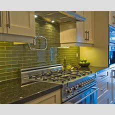 Green Glass Tiles For Kitchen Backsplashes Kitchentoday