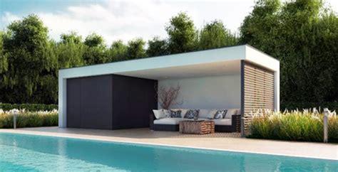 Pool House En Kit Un Poolhouse Vraiment Contemporain Install 233 En Une Journ 233 E Au Bord De Votre Piscine