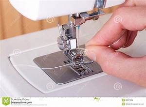 Threading A Sewing Machine Royalty Free Stock Photos ...