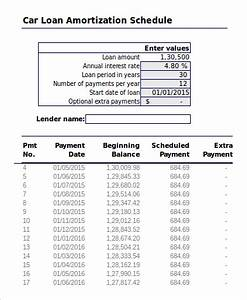 Sample amortization schedule in excel 7 examples in excel for Car payment schedule template