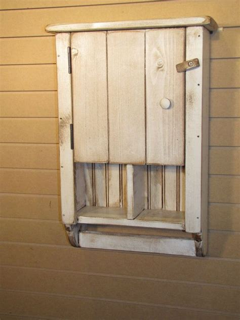 handmade primitive spice medicine cabinet  towel bar color choice rustic country style