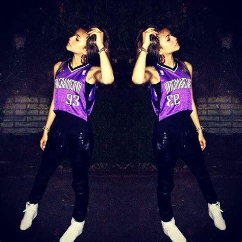 Zendaya Wearing A Sacramento Jersey June 13 2013