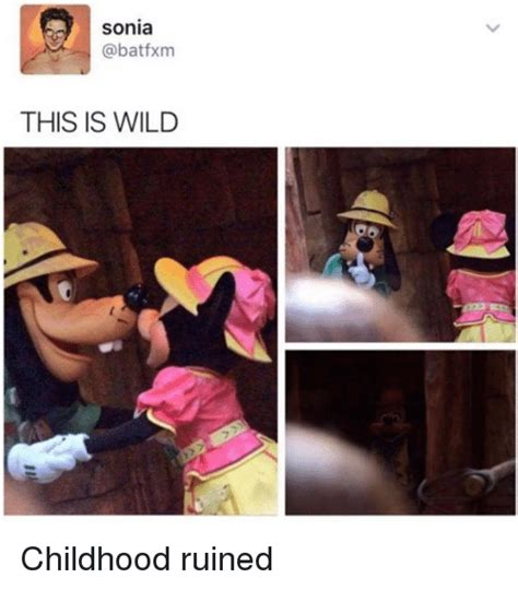 Ruined Childhood Meme - sonia this is wild childhood ruined meme on sizzle