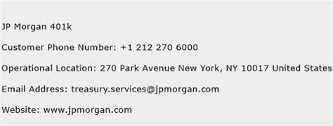 k phone number jp 401k customer service phone number toll free