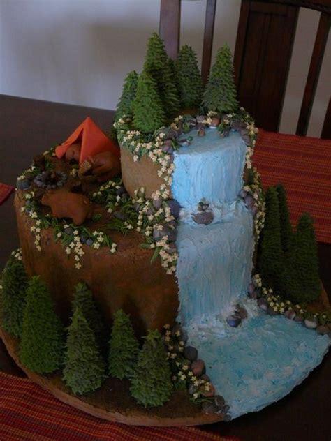outdoor cake cakecupcake ideas   cake camping