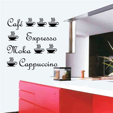 stickers café moka capuccino tasses deco cuisine