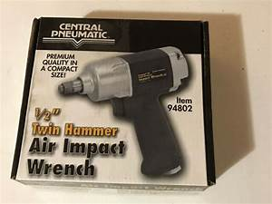 Central Pneumatic 94802 1  2 U0026quot  Twin Hammer Air Impact Wrench