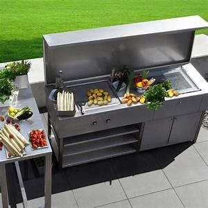 : Edelstahldesign Outdoor: die Outdoorküche von L Heinen