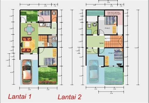 denah rumah minimalis sederhana  lantai denah rumah