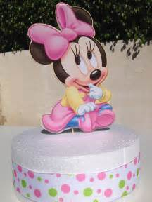 Baby Minnie Mouse Cake Topper for Baby Shower or 1st Birthday