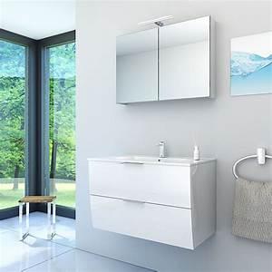 Badezimmermöbel Weiß Hochglanz : badm bel set gently 2 v1 hochglanz wei badezimmerm bel waschtisch 80cm ~ Frokenaadalensverden.com Haus und Dekorationen