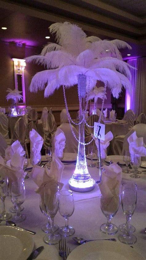 Lichterkette In Vase by Acrylic Garland Vase Ostrich Feather Centerpiece For