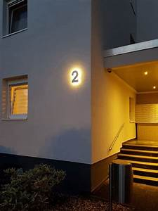 Hausnummer Beleuchtet Led : hausnummer 2 mit led hinterleuchtet ~ Frokenaadalensverden.com Haus und Dekorationen