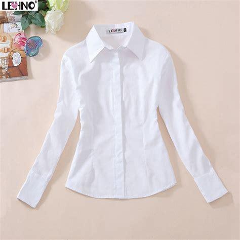buy  cotton full sleeve white blouse