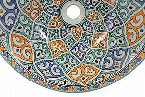 Bemalte Keramik Waschbecken : talia bunte keramik waschbecken ~ Markanthonyermac.com Haus und Dekorationen