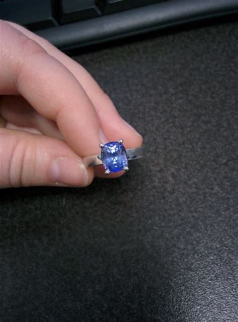 real engagement rings sapphires weddingbee