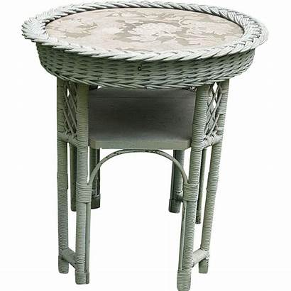 Wicker Table Round Circa 1920 Dovetail Ruby