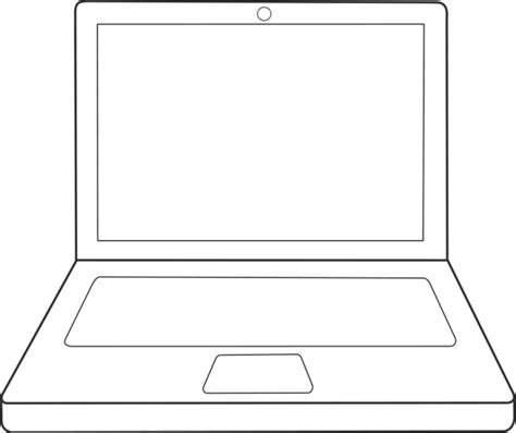 vector drawing laptop  vector