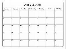 April calendar 2017 2019 2018 Calendar Printable with