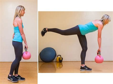 kettlebell deadlift leg single exercises butt raise weight workout lift hamstring bum glutes fitness exercise straight both lifts works arm