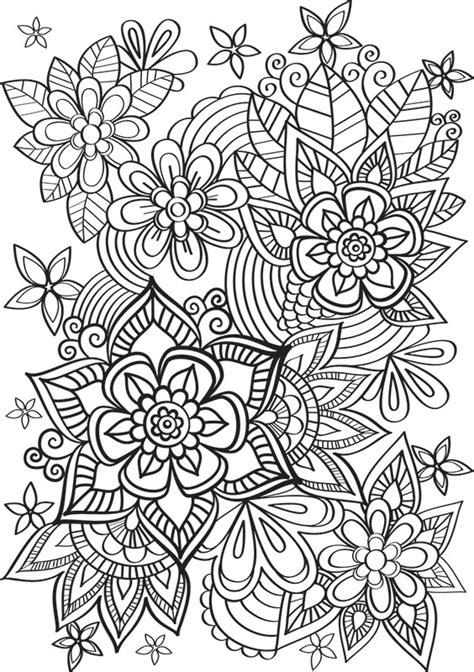 scrapbooking cuisine de jolies fleurs à colorier créapassions