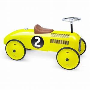 Voiture Enfant Vintage : porteur voiture vintage jaune vilac pour chambre enfant ~ Teatrodelosmanantiales.com Idées de Décoration